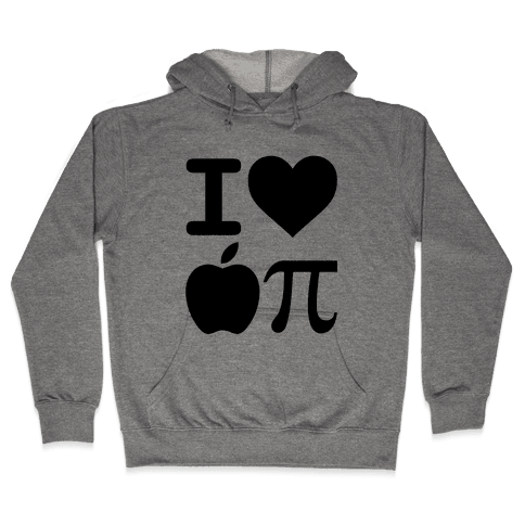 I Love Apple Pie Hooded Sweatshirt