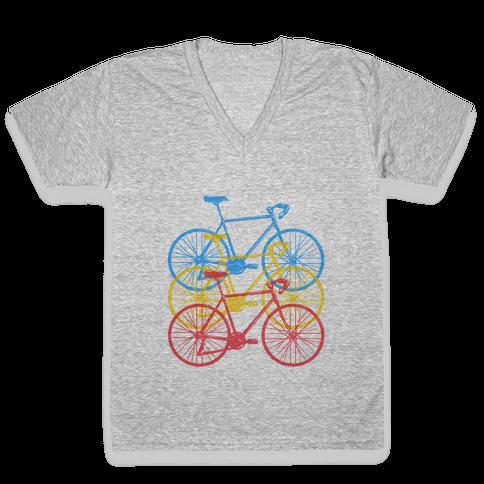 RBY Bikes V-Neck Tee Shirt