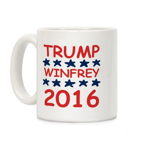Trump Winfrey 2016 Coffee Mug