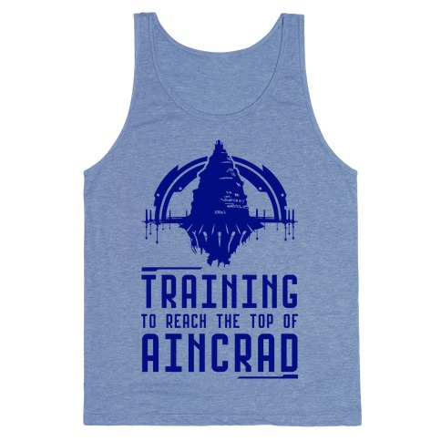 Training to Reach the Top of Aincrad Tank Top