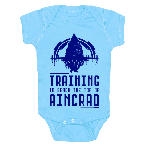 Training to Reach the Top of Aincrad Baby Onesy