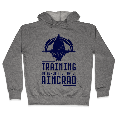 Training to Reach the Top of Aincrad Hooded Sweatshirt