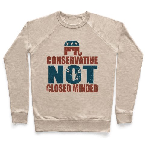 Conservative Not Closed Minded Pullover