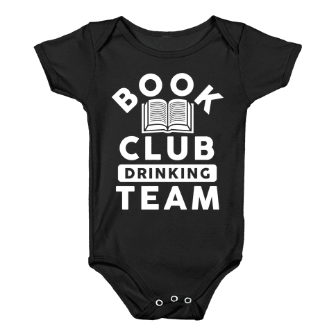 Book Club Drinking Team Baby Onesy