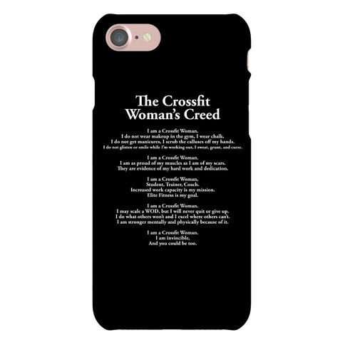 The Crossfit Woman's Creed Phone Case