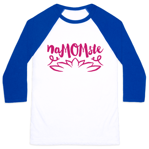 NaMOMste Yoga Mom Parody Baseball Tee