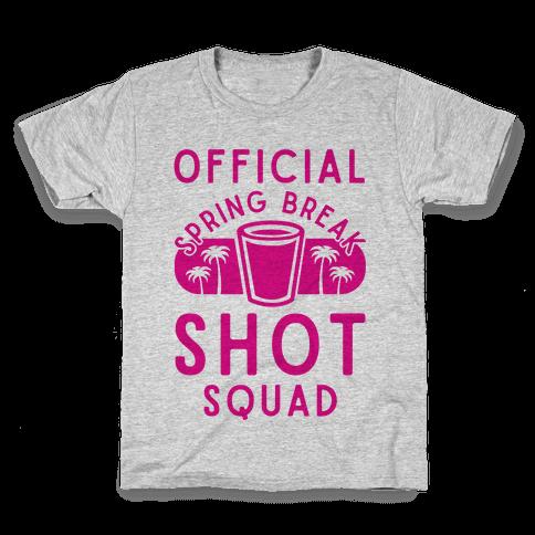 Official Spring Break Shot Squad Kids T-Shirt