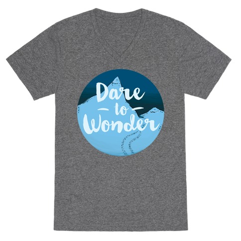 Dare To Wonder V-Neck Tee Shirt