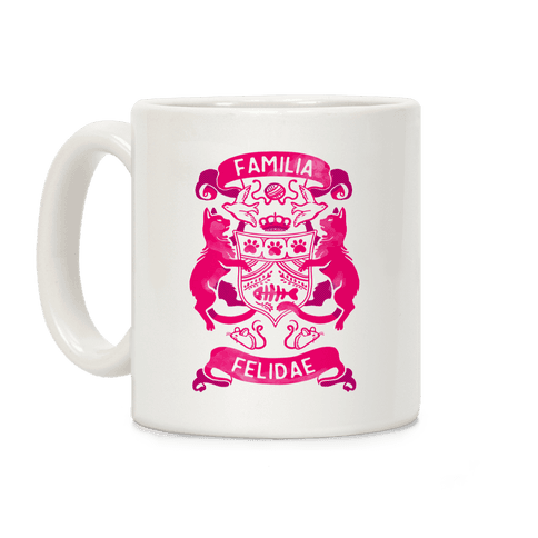 Cat Family Crest: Familia Felidae Coffee Mug