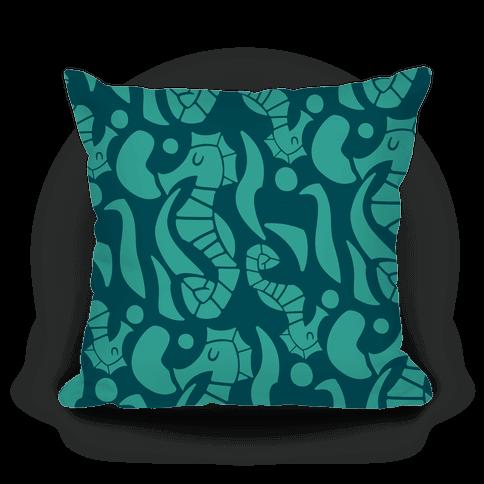 Bubbly Seahorse Pillow