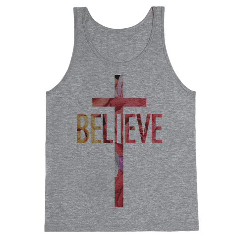 Believe (Floral) Tank Top