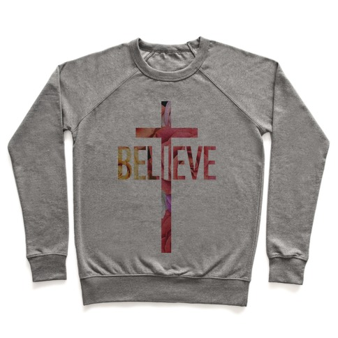 Believe (Floral) Pullover