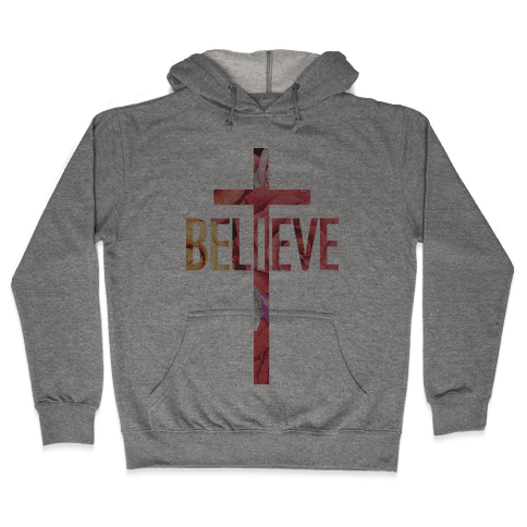 Believe (Floral) Hooded Sweatshirt