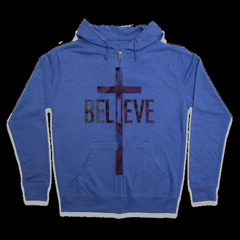 Believe (Floral) Zip Hoodie