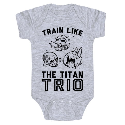 Train Like The Titan Trio Baby Onesy