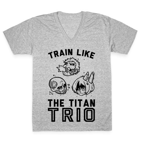 Train Like The Titan Trio V-Neck Tee Shirt