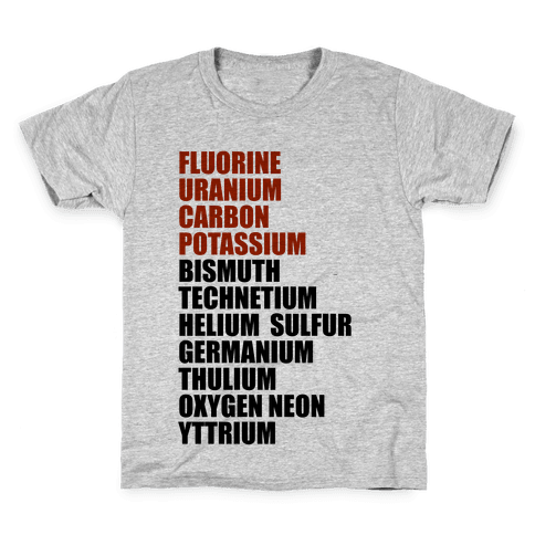 Chemistry Rap Tribute Kids T-Shirt