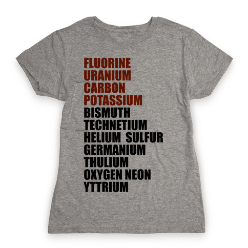 Chemistry Rap Tribute Womens T-Shirt