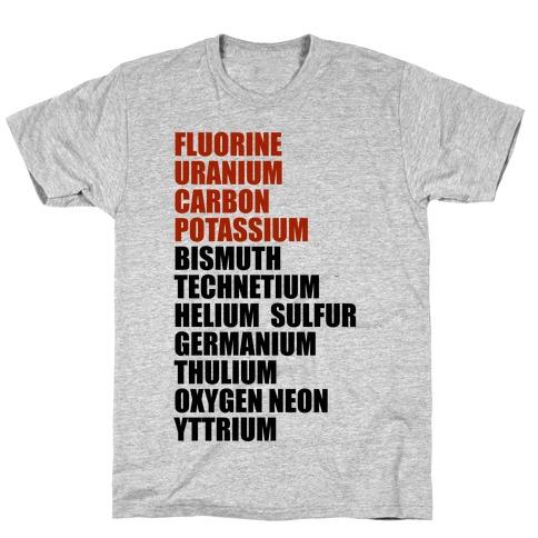 Chemistry Rap Tribute T-Shirt