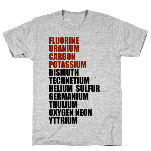 Chemistry Rap Tribute Mens T-Shirt