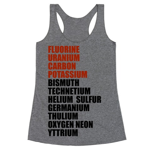 Chemistry Rap Tribute Racerback Tank Top
