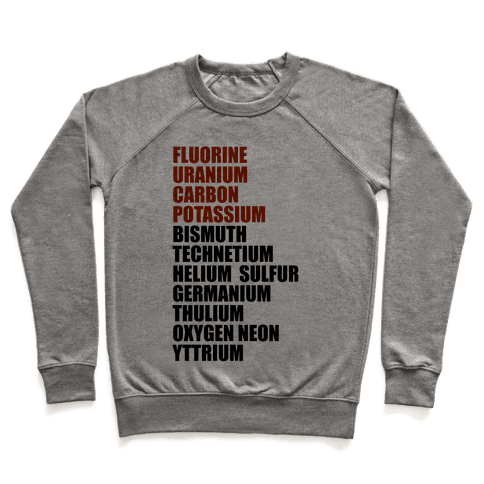 Chemistry Rap Tribute Pullover