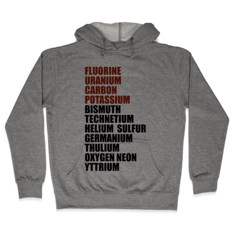 Chemistry Rap Tribute Hooded Sweatshirt