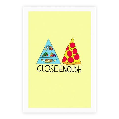 Pizza Pyramid (Close Enough) Poster