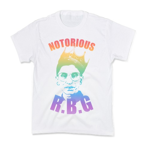 Rainbow Notorious R.B.G. Kids T-Shirt