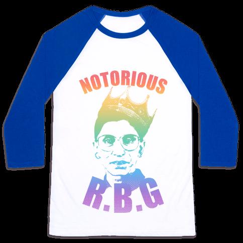 Rainbow Notorious R.B.G. Baseball Tee