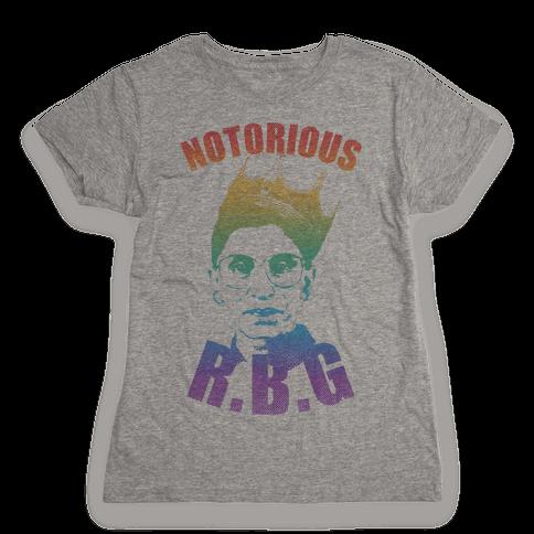 Rainbow Notorious R.B.G. Womens T-Shirt