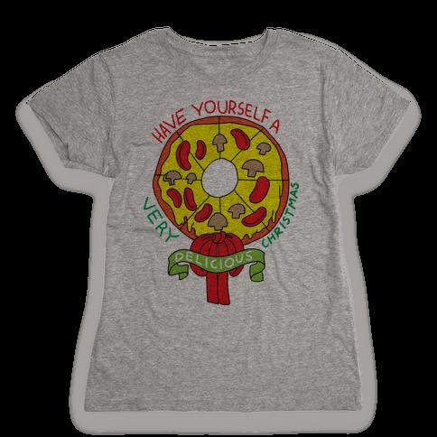 PIZZA WREATH Womens T-Shirt