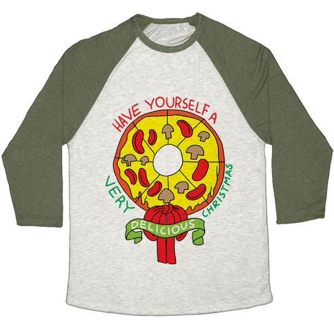 PIZZA WREATH Baseball Tee