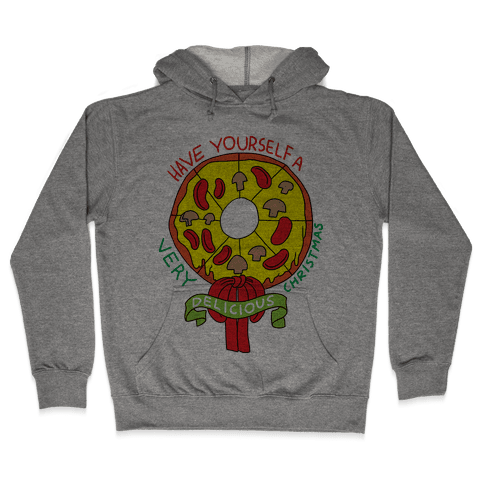 PIZZA WREATH Hooded Sweatshirt