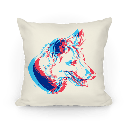 3d Dog Head Throw Pillow Lookhuman