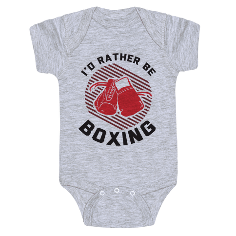 I'd Rather Be Boxing Baby Onesy