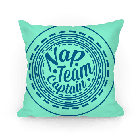 Nap Team Captain (Blue) Pillow