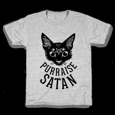 Purraise Satan Kids T-Shirt