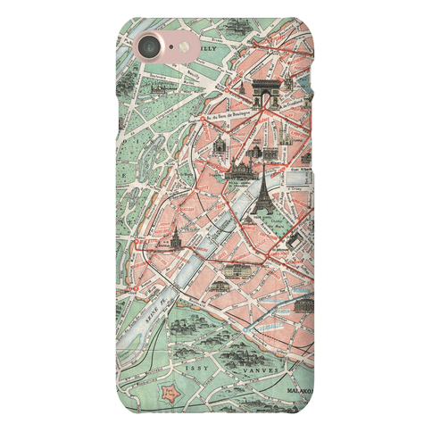 Vintage Paris Map Phone Case