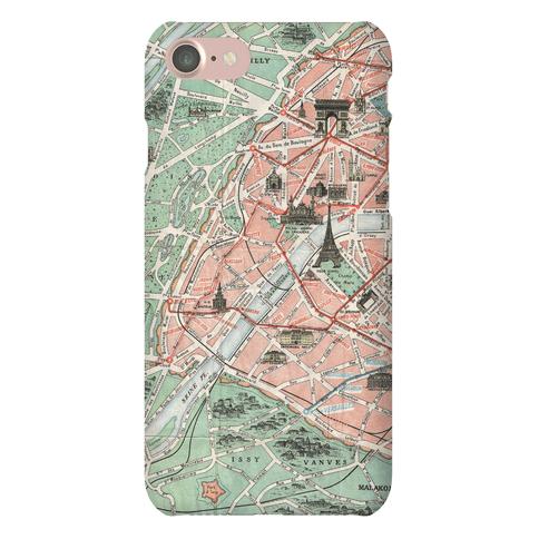 Vintage Paris Map Phone Case