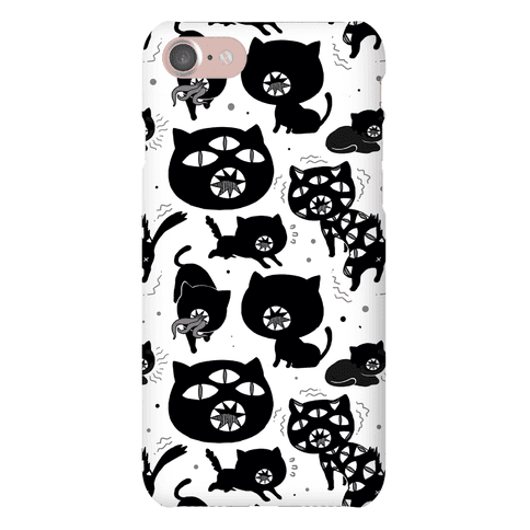 Kuro Cat Pattern Phone Case