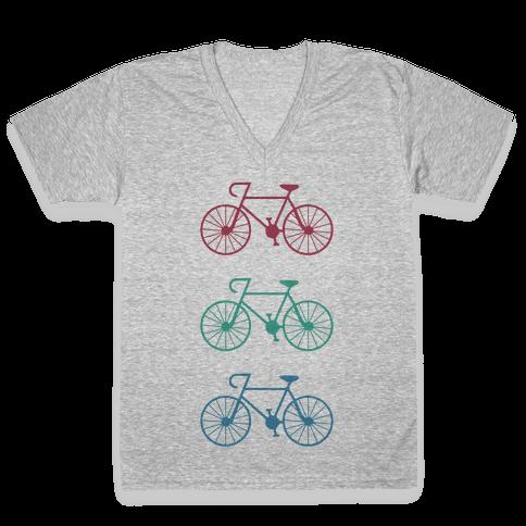 Bikes! V-Neck Tee Shirt