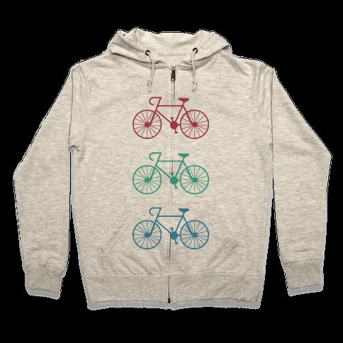 Bikes! Zip Hoodie