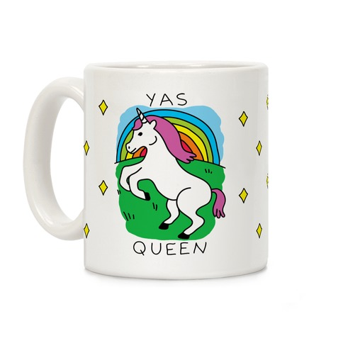 Yas Queen Unicorn Coffee Mug