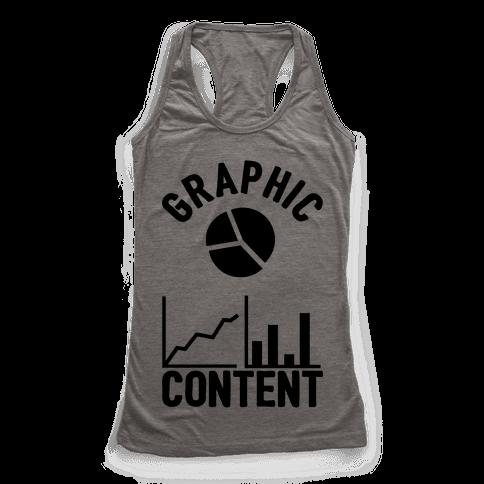 Graphic Content Racerback Tank Top