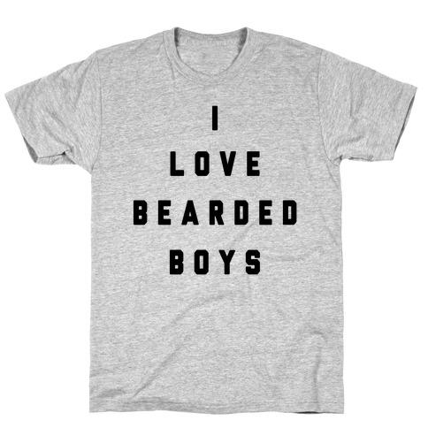 I Love Bearded Boys T-Shirt
