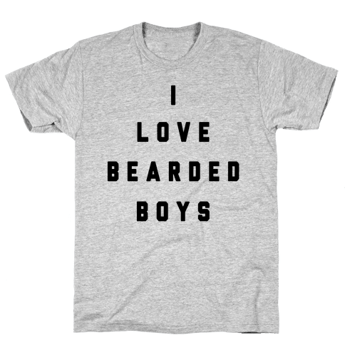 I Love Bearded Boys Mens T-Shirt