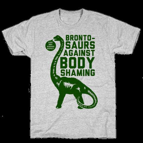 Brontosaurs Against Body Shaming Mens T-Shirt