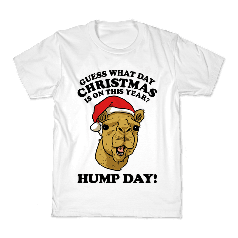 Guess What Day X-Mas Is On This Year (Camel Face)? Kids T-Shirt
