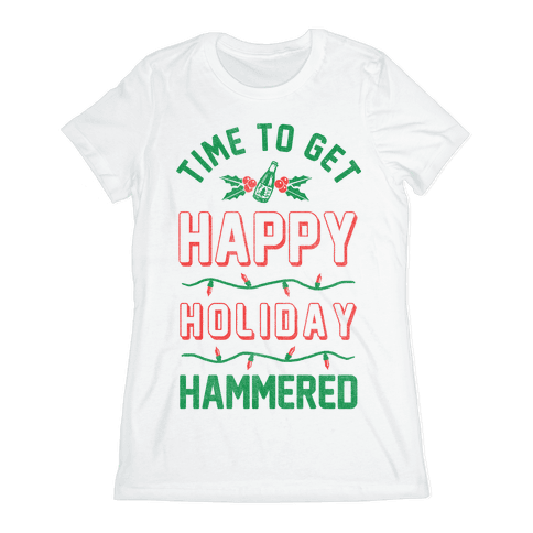Happy Holiday Hammered Womens T-Shirt
